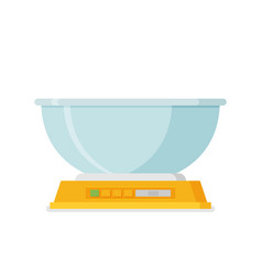 electronic scales for products in flat design vector image vector image