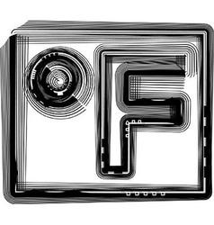Fahrenheit striped symbol vector