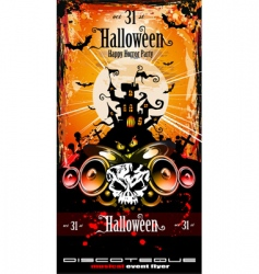 Halloween party disco flyer vector image