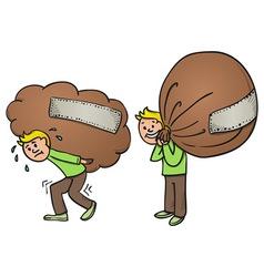 Heavy Bag Cartoon vector image vector image