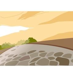 Park stone path background vector