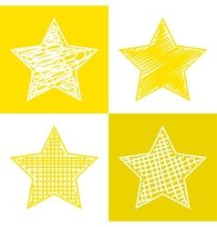 Set of hand drawn stars vector image vector image