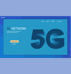 5g technology background vector image