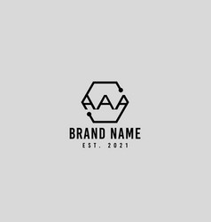 Aaa and s letters logo icon design vector