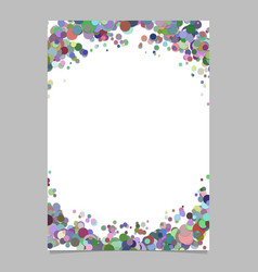 Abstract blank confetti circle page background vector