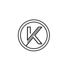 abstract letter k line art logo sign symbol icon vector image