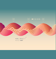 abstract wavy background dynamic effect 3d vector image
