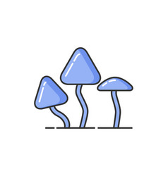 Allergy and hypersensitivity to mushrooms icon vector