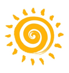 an Abstract Summer Sun vector image