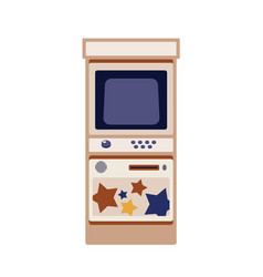 Arcade game cabinet flat vector