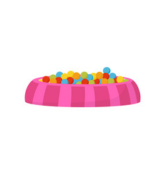 Ball pit pool with colorful balls kids vector