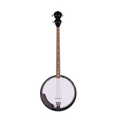 Banjo - folk musical instrument in realistic style vector