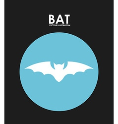 Bat design vector