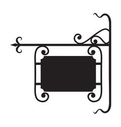 Blank board sign - hotel restaurant sign vector image