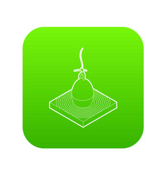 bobber icon green vector image