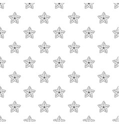 botany flower pattern seamless vector image