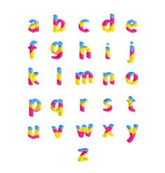 bright alphabet vector image