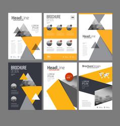 brochure layot set vector image