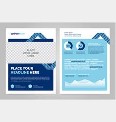 Brochure layout design vector