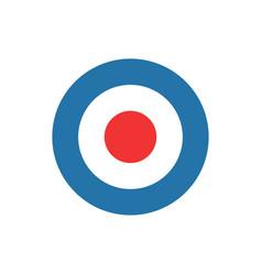 Bullseye target dart icon vector