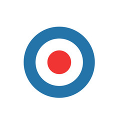 bullseye target dart icon vector image
