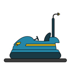 Bumper car design vector