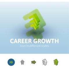 Career growth icon in different style vector