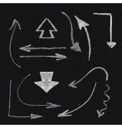 Chalk arrow set vector image