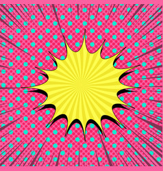 Comic bright abstract template vector
