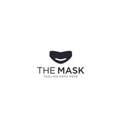 Creative simple and modern mask for healthcare vector