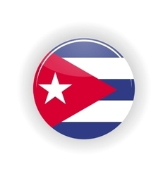 Cuba icon circle vector image