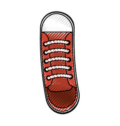 cute scribble shoe cartoon vector image