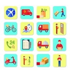 Delivery Icon Flat Set vector