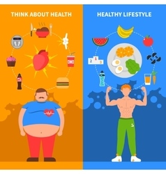 Diet Vertical Banners vector