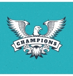 Eagle logo emblem template mascot vector image