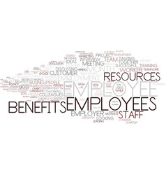 Employee word cloud concept vector