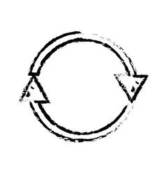 Figure arrows in circle symbol of loading progress vector