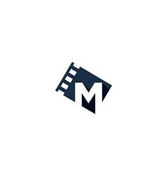 film letter m logo icon design vector image