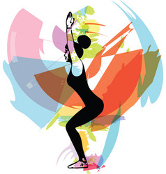 fit young woman in sportswear vector image
