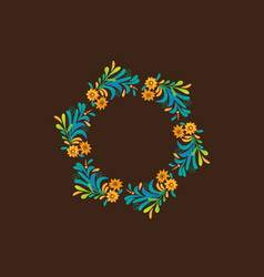 Floral wreath design vector