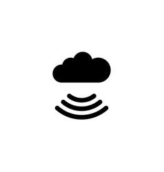 free wi-fi cloud flat icon vector image