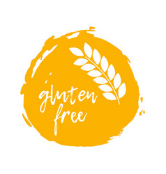 gluten free label food intolerance symbol vector image