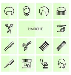 Haircut icons vector