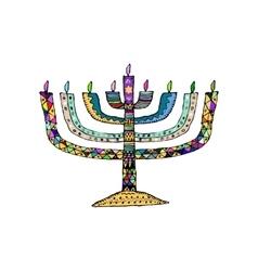 Hanukkah Jewish religious holiday Chanukah vector