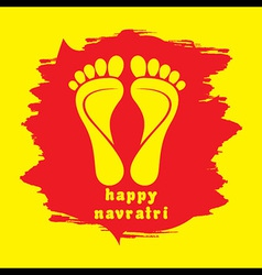 Happy diwali or navratri festival greeting vector