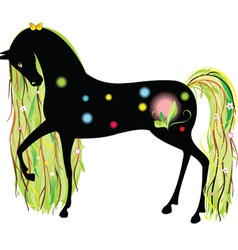 Horse spring vector