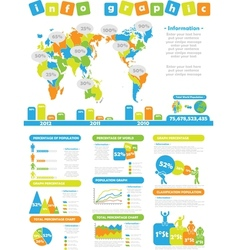 Infographic demographics toy vector