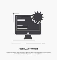 Internet layout page site static icon glyph gray vector