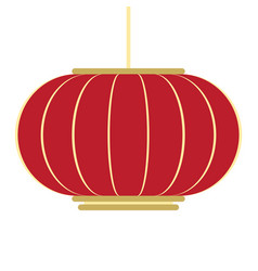 Isolated chinese lamp chinese new year vector