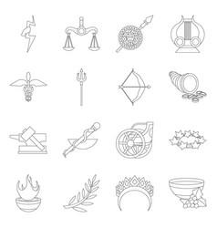 Isolated object mythology and god logo set vector